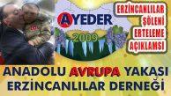 AYEDER: 'Geleneksel Erzincanlılar Şöleni Ertelendi'