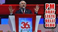Kemal Kılıçdaroğlu'nun PM Aday Listesi Belli Oldu