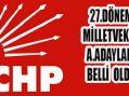 27.Dönem CHP Milletvekili Aday Adayları Belli Oldu