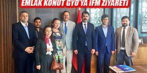 Ahmet Özcan ve İFM Yatırımcılarından Emlak Konut GYO'na Ziyaret