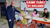 İlhami Yılmaz Şehit Mehmet Fidan'da Oy Kullandı
