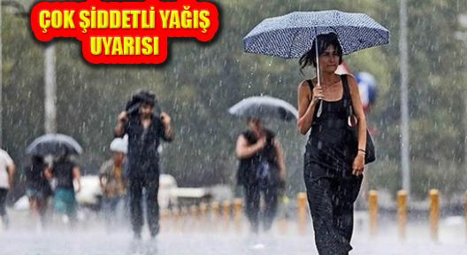 Meteoroloji'den İstanbul İçin Şiddetli Yağış Uyarısı