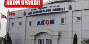Meteoroloji İBB AKOM İstanbul'u Uyardı