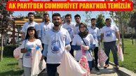 Ak Parti Ataşehir'den Cumhuriyet Parkı'nda Temizlik