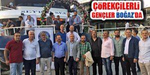 Çörekçiler Köyü Gençleri İstanbul Boğazı'nda eğlendiler
