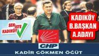 Kadir Gökmen Öğüt Kadıköy Belediye Başkan Aday Adayı