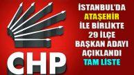 İstanbul'da 5'i İle Devam, 29 ilçe Başkan Adayı Açıklandı