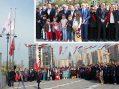 23 Nisan Bayramında Atatürk Anıtına Çelenk Sundular