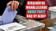 Ataşehir'in 17 Mahallesi Seçim Sonuçları Belli Oldu