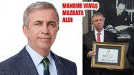 ANKARA BB Başkanı Mansur Yavaş Mazbatasını Aldı
