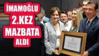 İBB Başkanı Ekrem İmamoğlu Mazbatasını 2. Kez Aldı
