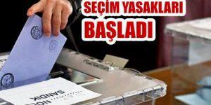 23 Haziran İBB Başkan Yenileme Seçimi Yasakları Başladı