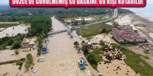 Sağanak Yağış Nedeniyle Düzce'de Su Baskınları Yaşandı