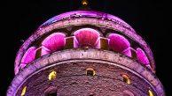 Galata Kulesi Meme Sağlığı Gününde Pembeye Büründü