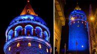 Galata Kulesi Diyabete Dikkat Çekmek İçin Mavi Renge Bürünüyor