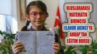 10 Yaşındaki Elanur Akıncı Uluslararası Matematik Yarışması Birincisi