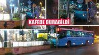 Yoldan Çıkan Halk Otobüsü Kaldırımı Aşıp Kafeye Girdi