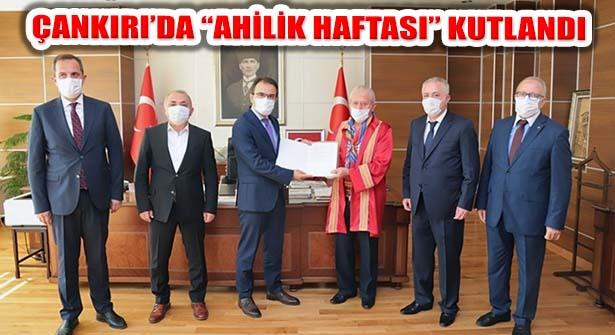 Çankırı'da Ahilik Haftası Kutlamaları Kovid Koşullarında Yapıldı