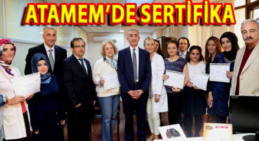 ATAMEM KURSİYERLERİ SERTİFİKALARINI ALDI