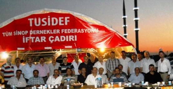 Çerkeş Dernekler Birliği Siyad Çadırında iftara katıldı
