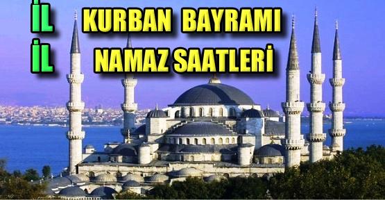 Türkiye'de ilerde Kurban Bayramı namaz saatleri