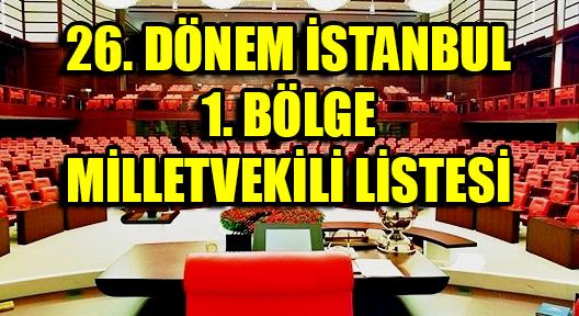 İSTANBUL 1. BÖLGE MİLLETVEKİLİ LİSTESİ