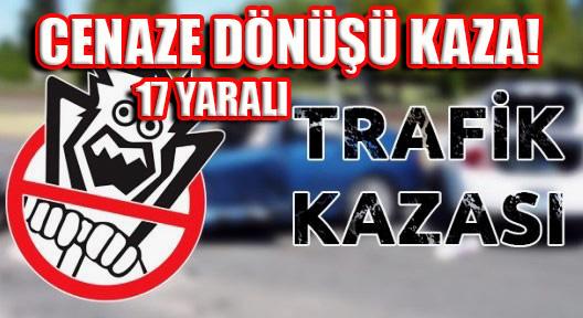 ILGAZ'DA TRAFİK KAZASI 17 YARALI