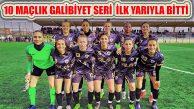 Kadınlar 1.Futbol Ligi İlk Yarısı ve Galibiyet Serisi Bitti