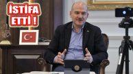 İçişleri Bakanı Süleyman Soylu Bakanlıktan İstifa Etti
