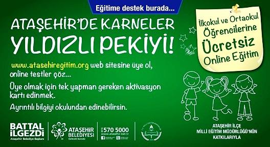 Ataşehir Belediyesi 'Online Eğitim' Hizmeti Başlattı